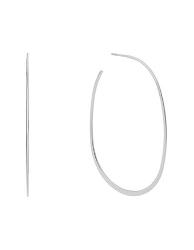 Michael Kors Post Back Hoop Earrings-SILVER-One Size