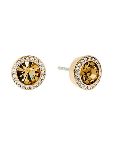 Michael Kors Pave-Framed Stud Earrings-GOLD-One Size