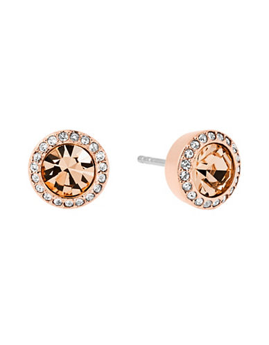 Michael Kors Brilliance Cubic Zirconia and Crystal Stud Earrings-PINK-One Size