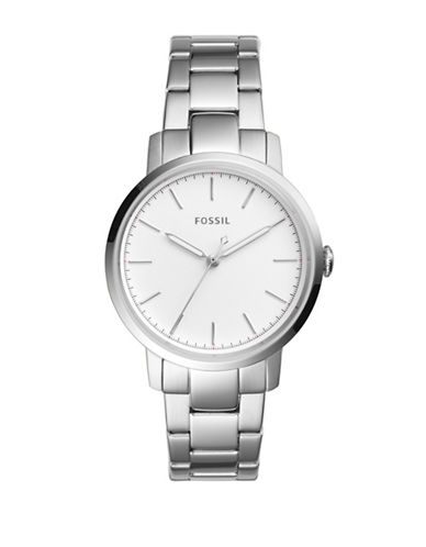 Fossil Analog Neely Stainless Steel Bracelet Watch-SILVER-One Size