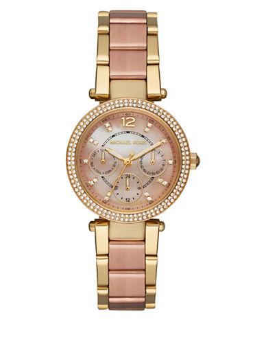Michael Kors Chronograph Mini Parker Two-Tone Bracelet Watch-TWO TONE-One Size