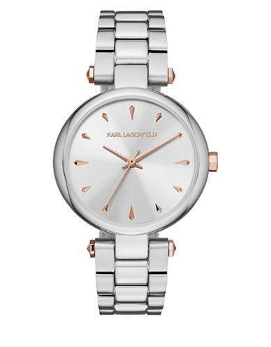 Karl Lagerfeld Paris Aurelie Stainless Steel Bracelet Watch-SILVER-One Size