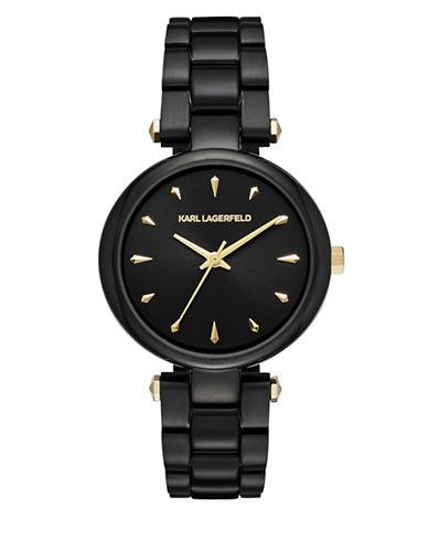 Karl Lagerfeld Paris Aurelie Stainless Steel Bracelet Watch-BLACK-One Size