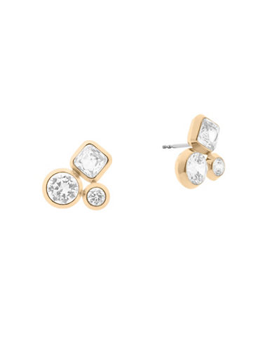 Michael Kors Easy Opulence Cluster Stud Earrings-GOLD-One Size