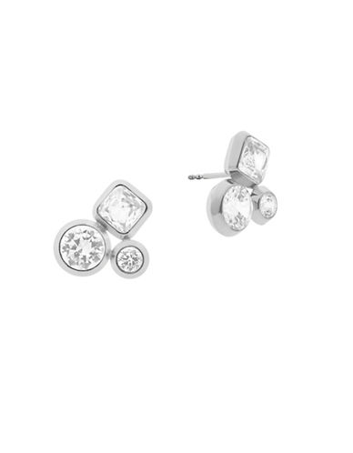 Michael Kors Easy Opulence Cluster Stud Earrings-SILVER-One Size