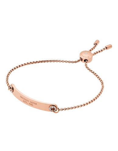 Michael Kors Haute Hardware Rose Goldtone Slider Bracelet-ROSE GOLD-One Size