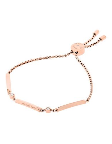 Michael Kors Knife Edge Rose Goldtone Slider Bracelet-ROSE GOLD-One Size