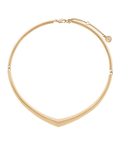 Michael Kors Knife Edge Collar Necklace-GOLD-One Size