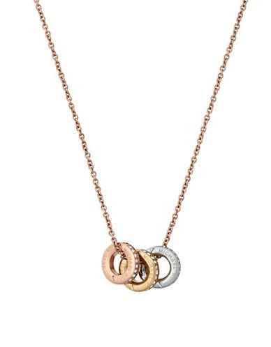 Michael Kors Haute Hardware Multi-Tone Grommet Pendant Necklace-TRI TONE-One Size