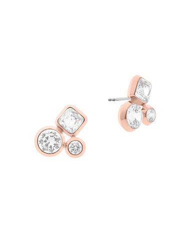 Michael Kors Easy Opulence Cluster Stud Earrings-ROSE GOLD-One Size