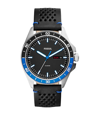 Fossil Sport 54 Quartz Strap Watch-BLACK-One Size