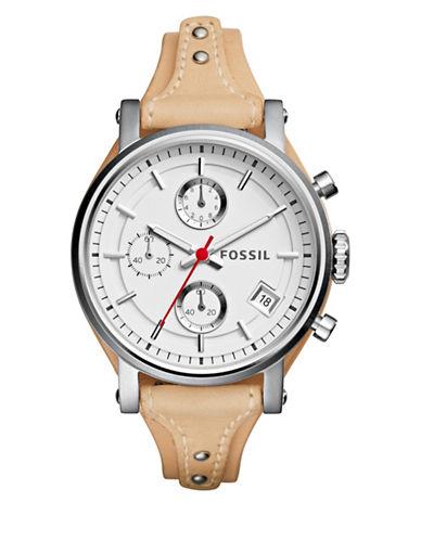 Fossil Sport Original Chronograph Boyfriend Strap Watch-BROWN-One Size