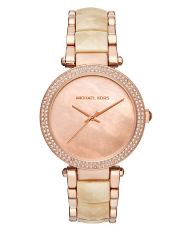 Michael Kors Analog Jetset Parker Rose-Goldtone Bracelet Watch-ROSE GOLD-One Size