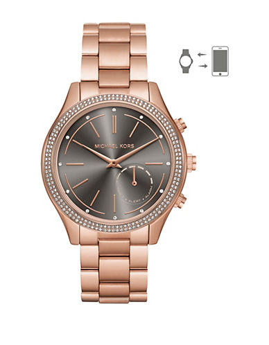 Michael Kors Slim Runway Hybrid Rose Goldtone Smartwatch-ROSE GOLD-One Size