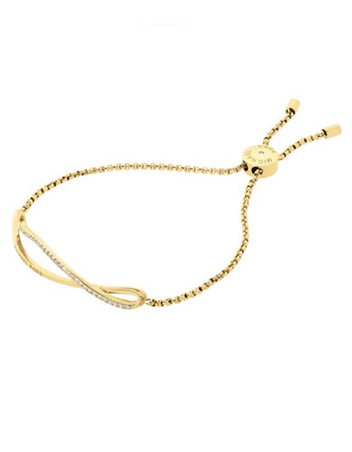 Michael Kors Wonderlust Crystal and Goldtone Slider Bracelet-GOLD-One Size