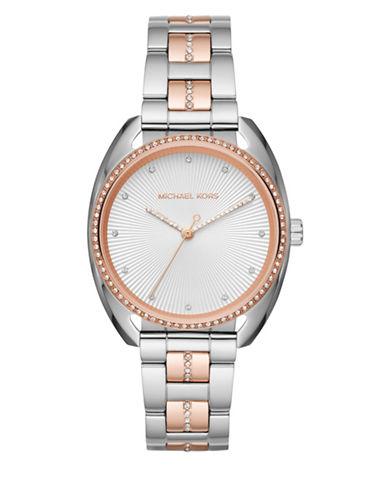 Michael Kors Libby Two-Tone Analog Bracelet Watch-TWO-TONE-One Size