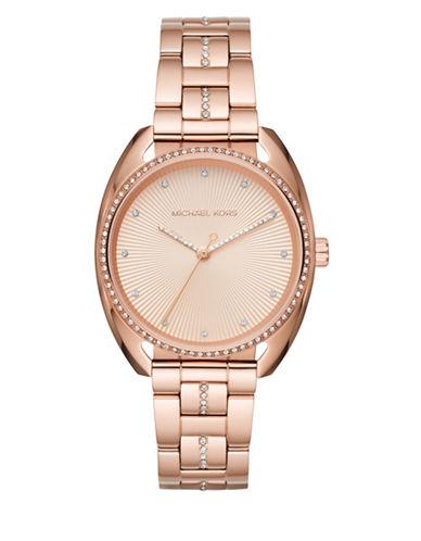 Michael Kors Libby Rose Goldtone Analog Bracelet Watch-ROSE GOLD-One Size