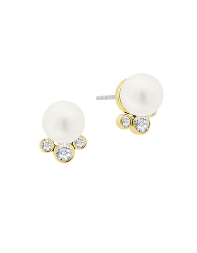 Michael Kors Crystal and Stud Earrings-WHITE-One Size