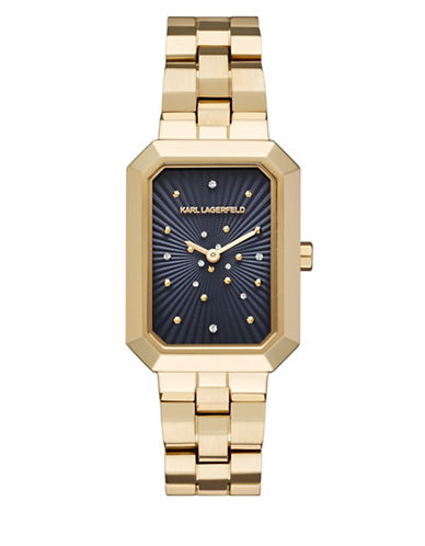 Karl Lagerfeld Paris Linda Stainless Steel Bracelet Watch-GOLD-One Size