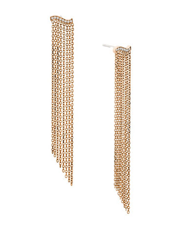 Michael Kors Wonderlust Crystal Goldtone Statement Chandelier Earrings-ROSE GOLD-One Size