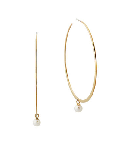 Michael Kors Faux-Pearl and Hoop Earrings-WHITE-One Size