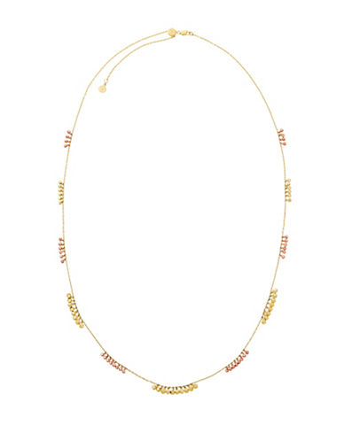 Michael Kors Crystal String  Necklace-TWO TONE-One Size