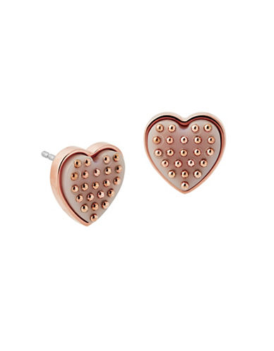 Michael Kors Micro Muse Heart Stud Earrings-BLUSH-One Size