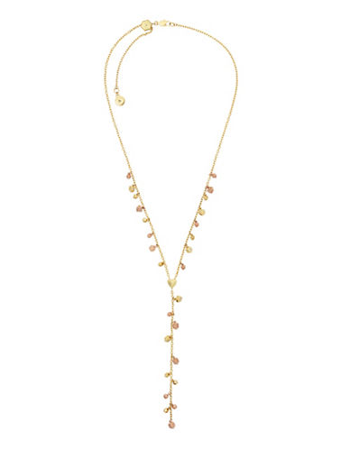 Michael Kors Crystal Nugget Slider Y-Necklace-TWO TONE-One Size