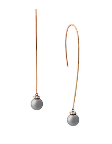 Michael Kors Pearl Thread Earrings-GREY-One Size