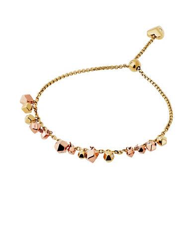Michael Kors Crystal Nugget Slider Bracelet-TWO TONE-One Size