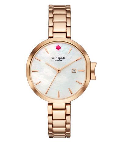 Kate Spade New York Analog Park Row Rose-Goldtone Bracelet Watch-ROSE GOLD-One Size