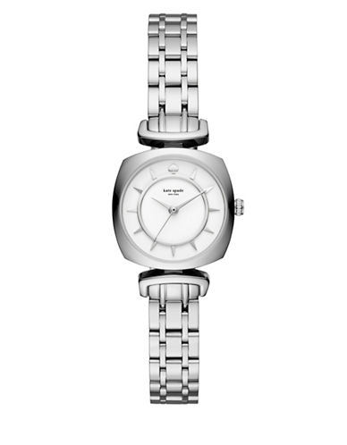 Kate Spade New York Analog Barrow Stainless Steel Bracelet Watch-SILVER-One Size