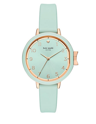 Kate Spade New York Analog Park Row Cirrus Blue Silicone Strap Watch-BLUE-One Size