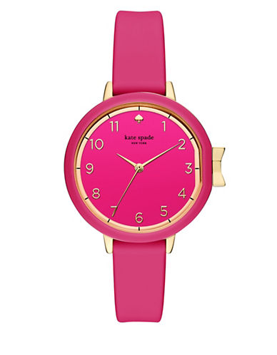 Kate Spade New York Analog Park Row Pink Silicone Strap Watch-PINK-One Size