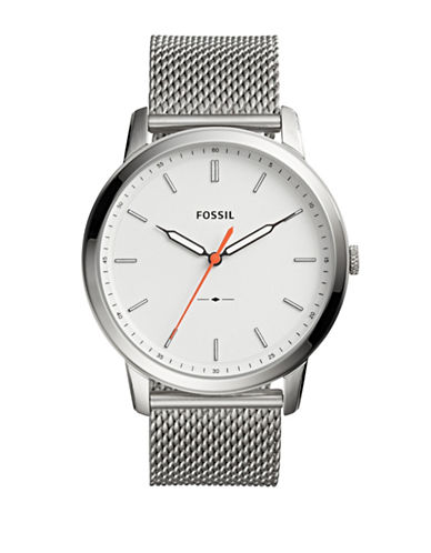 Fossil The Minimalist Stainless Steel Bracelet Watch-SILVER-One Size