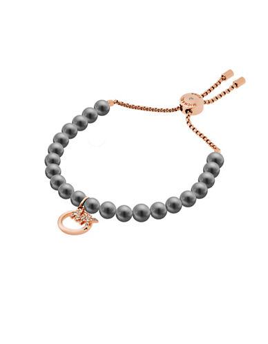 Michael Kors Pearls Pendant Slider Bracelet-GREY-One Size