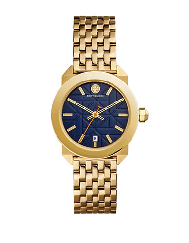 Tory Burch The Whitney Gold-Tone Stainless-Steel Watch-GOLD-One Size