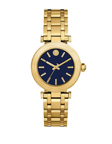 Tory Burch The Classic T Gold-Tone Stainless-Steel Watch-GOLD-One Size