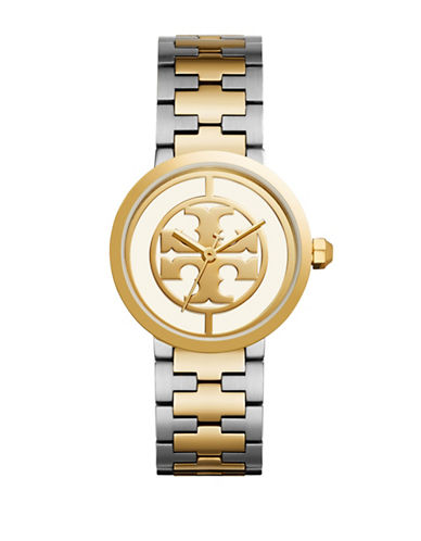 Tory Burch The Reva Goldtone Stainless Steel Link Bracelet Watch-MULTI-One Size