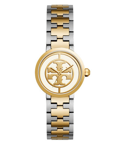 Tory Burch The Reva Two-Tone Stainless Steel Three-Hand Bracelet Watch-MULTI-One Size