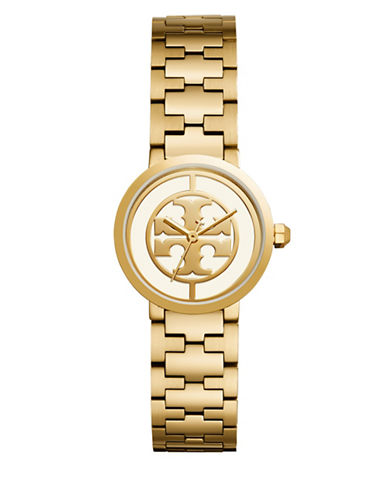 Tory Burch The Reva Gold-Tone Stainless Steel Three-Hand Bracelet Watch-GOLD-One Size