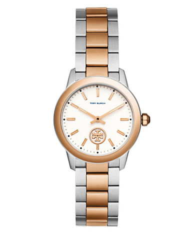 Tory Burch Collins Two-Tone Stainless Steel Link Bracelet Watch-MULTI-One Size