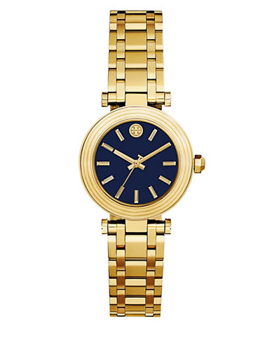Tory Burch The Classic T Stainless-Steel Three-Hand Watch-GOLD-One Size