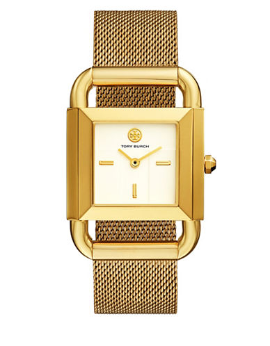 Tory Burch The Phipps Mesh Gold-Tone Watch-GOLD-One Size