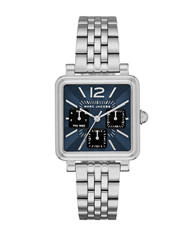 Marc Jacobs Multifunction Vic Stainless Steel Chronograph Watch-SILVER-One Size