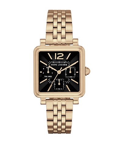 Marc Jacobs Multifunction Vic Goldtone Stainless Steel Chronograph Watch-SILVER-One Size