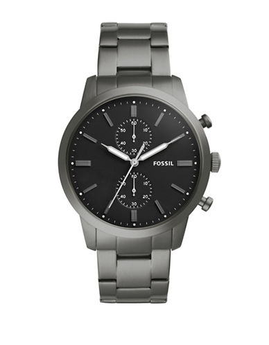 Fossil Chronograph Townsman Stainless Steel Bracelet Watch-SILVER-One Size