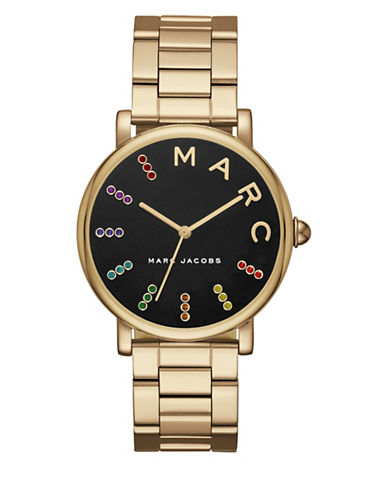 Marc Jacobs Analog Classic Goldtone Bracelet Watch-GOLD-One Size