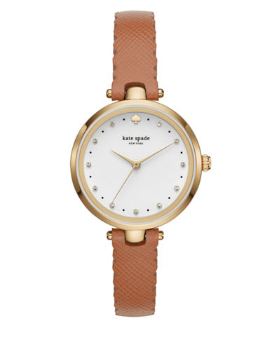 Kate Spade New York KSW1359 Three-Hand Holland Watch-TAN-One Size