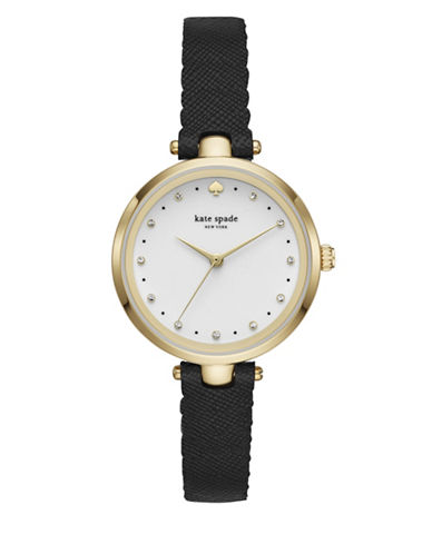 Kate Spade New York Holland Strap Watch-BLACK-One Size